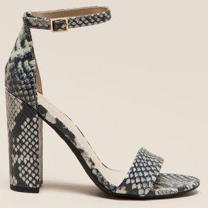 "Francesca's snakeskin python Yvonne"" block heel 9"